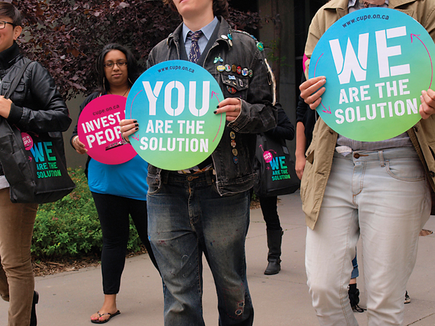 CUPE Ontario Convention — Placards