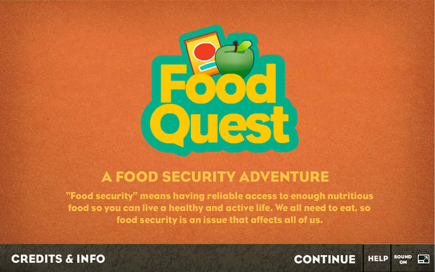 Food Quest — Title Screen